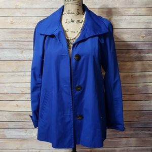 Ellen Tracy Button Down Lined Coat